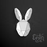 Origami-Häschen für glückliche Ostern-Feier Stockbilder