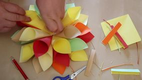 Origami handmade stock video footage