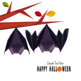 Origami hanging bats Royalty Free Stock Images