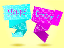 Origami Happy Easter card Stock Photography