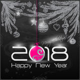 2018 Origami Happy New Year Ball. Greeting card or background vector illustration