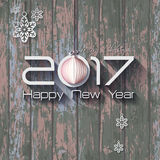 2017 Origami Happy New Year Origami Merry Christmas Ball. Ngreeting card or background Royalty Free Illustration