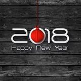 2018 Origami Happy New Year Origami Merry Christmas Ball. Greeting card and background vector illustration