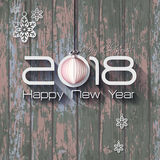 2018 Origami Happy New Year Origami Merry Christmas Ball. Greeting card and background royalty free illustration