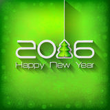 2016 Origami Happy New Year Tree. Greeting card or background vector illustration