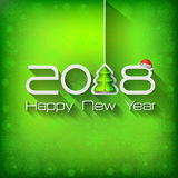 2018 Origami Happy New Year Tree. Greeting card or background stock illustration