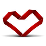 Origami heart Royalty Free Stock Image