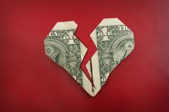 Origami heart Stock Image