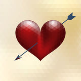 Origami heart design with arrow. EPS 10 Royalty Free Stock Images