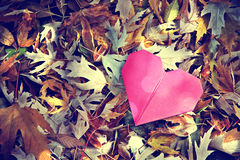 Origami heart Royalty Free Stock Images