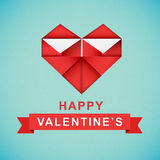 Origami heart. Royalty Free Stock Image