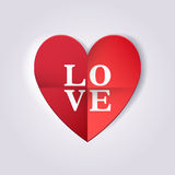 Origami heart. Love Royalty Free Stock Image