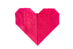 Origami heart paper. Origami heart on white Royalty Free Stock Image