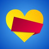 Origami heart. Royalty Free Stock Photo