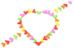 Origami  heart shape valentine themed. Japanese paper art of Stock Photography