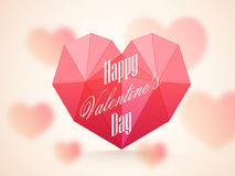 Origami heart for Valentine's Day celebration. Royalty Free Stock Photos