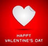 Origami hearts on happy valentines day Royalty Free Stock Photo