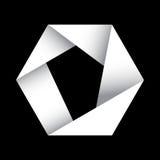 Origami hexagonale vector Stock Afbeeldingen
