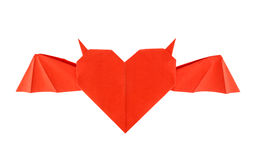 Origami horned heart Royalty Free Stock Photography
