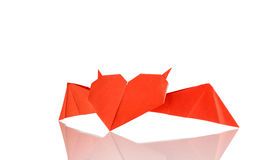 Origami horned heart Stock Photo