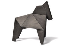 Origami horse over white Royalty Free Stock Photo