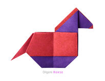 Origami horse Royalty Free Stock Photography