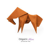 Origami horse. Origami paper art red horse on a white background Royalty Free Stock Image
