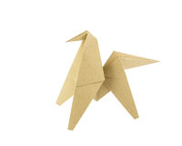 Origami horse recycle paper Stock Image
