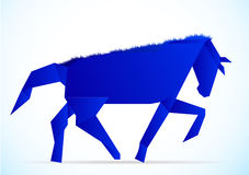 Origami horse Royalty Free Stock Images