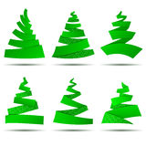Origami сhristmas trees Royalty Free Stock Photo