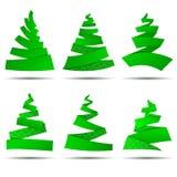 Origami сhristmas trees Royalty Free Stock Photo