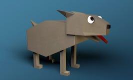 Origami hund royaltyfri illustrationer