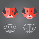 Origami hund Fotografering för Bildbyråer