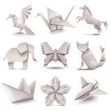 Origami icons vector set Stock Images