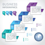Origami infographics business template royalty free illustration