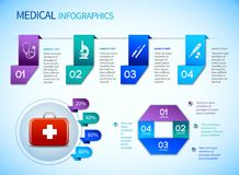 Origami infographics medical template Stock Images