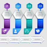 Origami infographics service template Stock Images