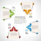 Origami infographics template Stock Photos