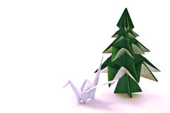 Origami japonais illustration stock