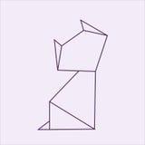 Origami Katze Lizenzfreie Stockfotos