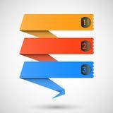 Origami Kennsätze für Ihren Text, Vektor Stockbild