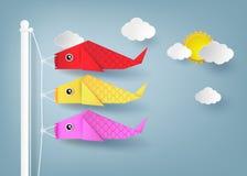 Origami koi nobori Royalty Free Stock Photos