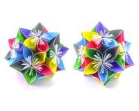 Origami kolorowi kwiaty Zdjęcia Royalty Free