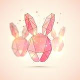 Origami królik dla Szczęśliwego Wielkanocnego świętowania Zdjęcia Royalty Free