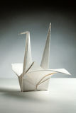 Origami kran Arkivfoton