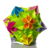 Origami kusudama flower Royalty Free Stock Photos
