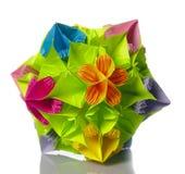 Origami kusudama flower royalty free stock photos