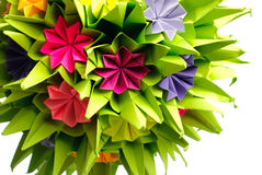 Origami kusudama flower Stock Photo