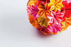 Origami kusudama flower Royalty Free Stock Images
