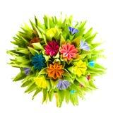 Origami kusudama flower Stock Image